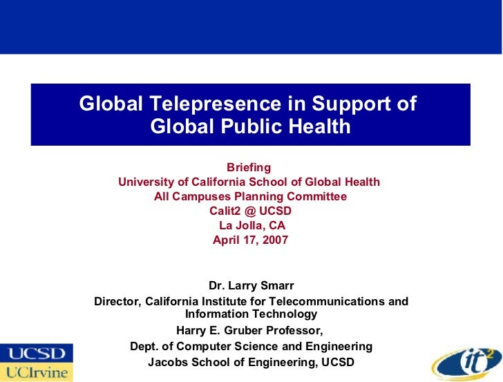 Global Telepresence in Support of Global Public Health
