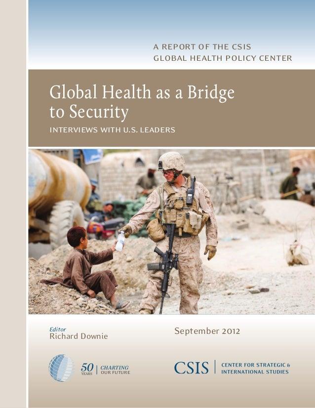 Global health as a bridge to security