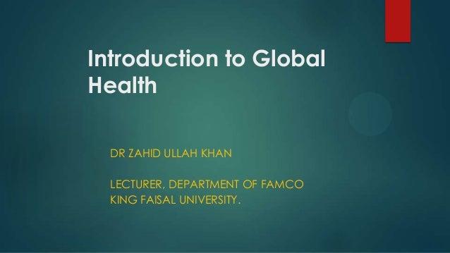 Global health introduction