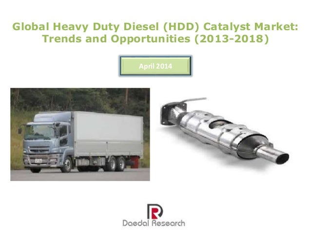 Global Heavy Duty Diesel (HDD) Catalyst Market: Trends & Opportunities (2013-18) – New Report by Daedal Research