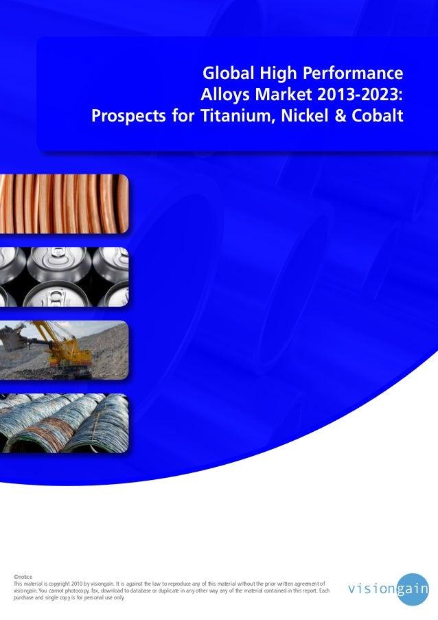 Global high performance alloys market 2013 2023