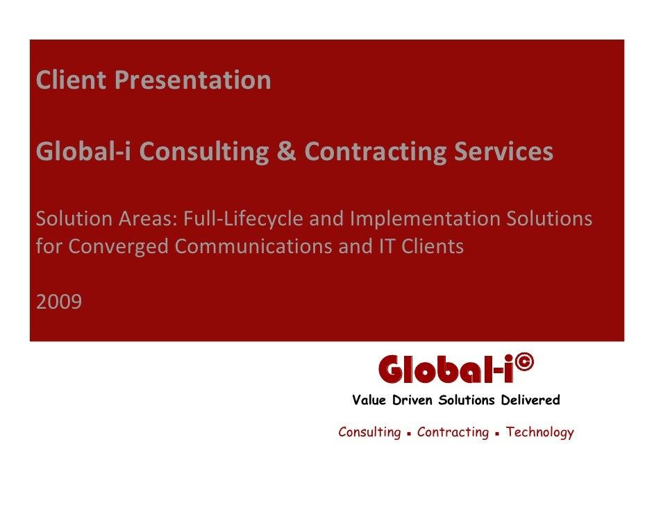 Global-i Capabilities Presentation