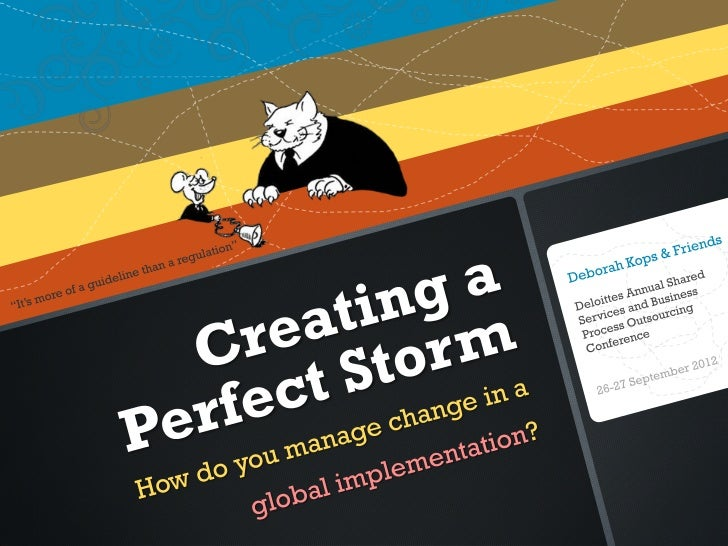 Creating a Perfect Storm--How Do You Manage Change in a Global Implementation?