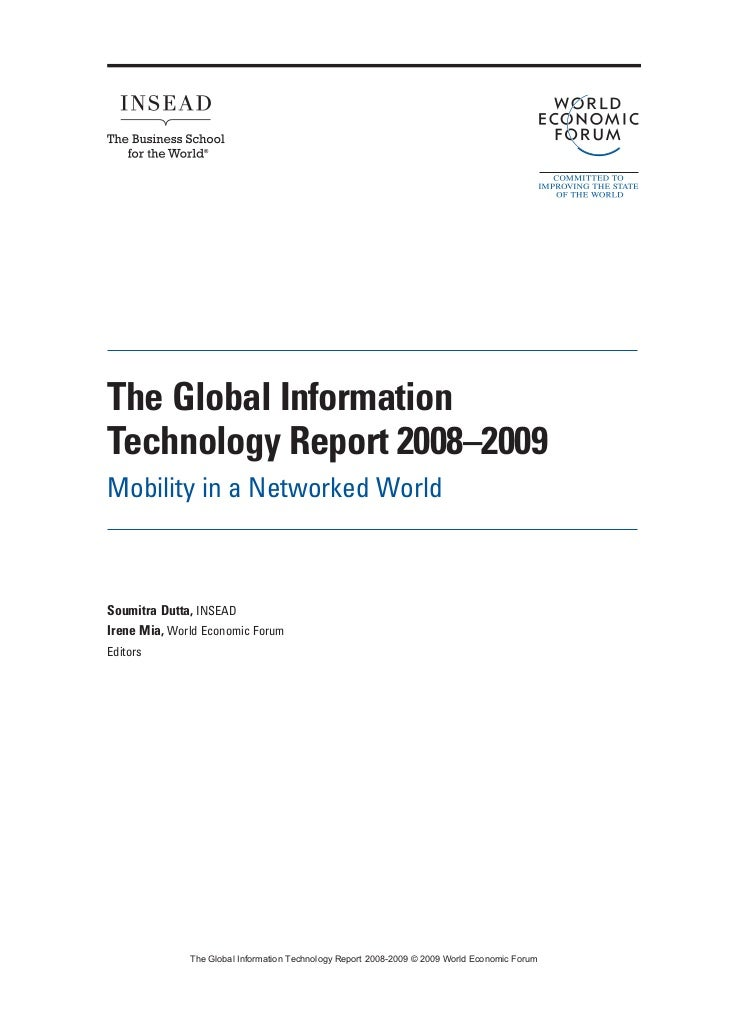 Global Information Technology Report 2008 2009