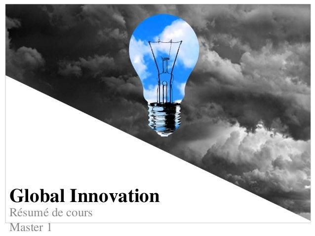 Global Innovation Résumé de cours Master 1