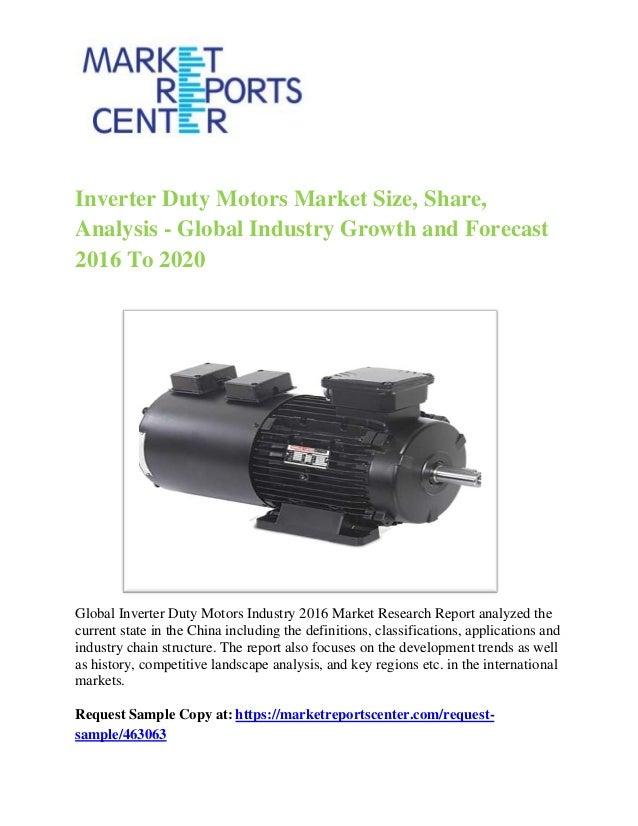 Global Inverter Duty Motors Market Research Report 2016
