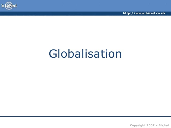 Globalisation, advantages & disadvantages!