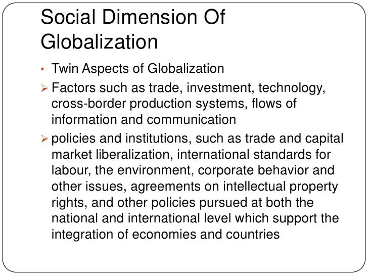 sociology on globalization While globalization, transnationalism, and immigration have long been important  phenomena for sociologists, recent changes—including the worldwide break.