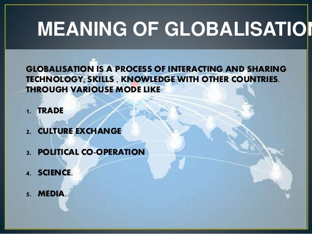 meaning of globalization in hindi