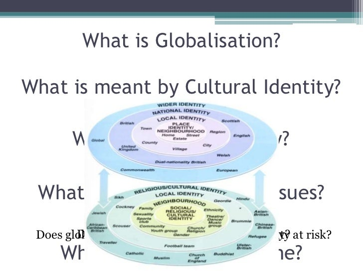 globalization and cultural identity essay Introduction there is no doubt that africa, as a continent, is facing a lot of challenges on account of the phenomenon of globalization in the course of history, africa has at one period or the other become a battle ground for external socio-political, economic and even cultural forces struggling for her soul.