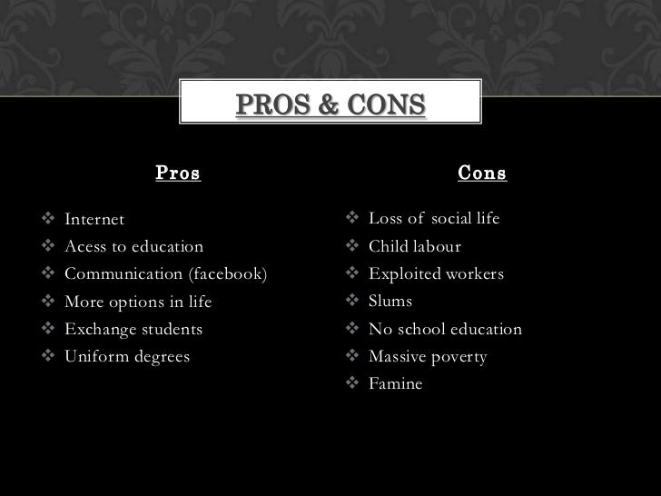 pros and cons of science and