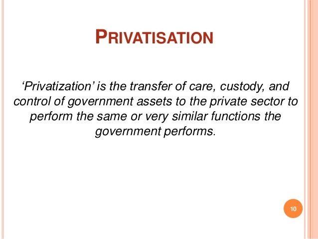 privatization of insurance essay State-owned enterprises essay and performance relative to private firms have led to a worldwide privatization trend since the and insurance companies, the.