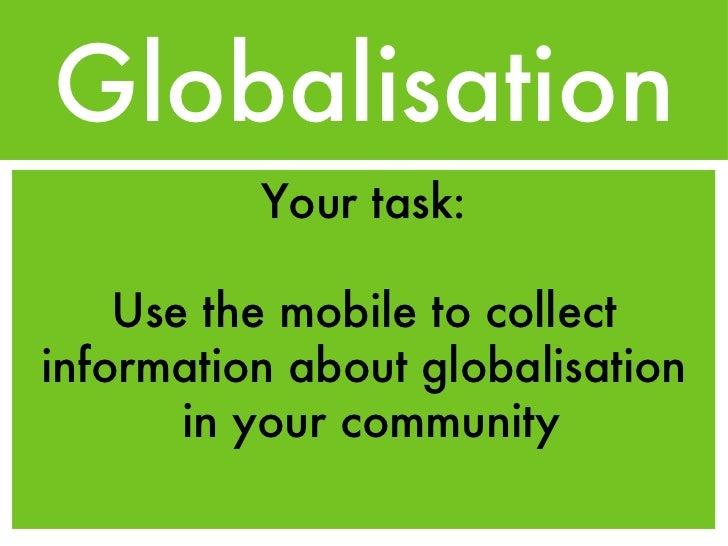 Globalisation Task