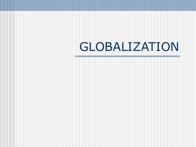 Globalistion