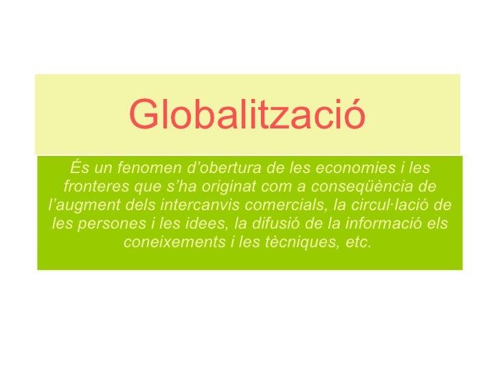 Globalització