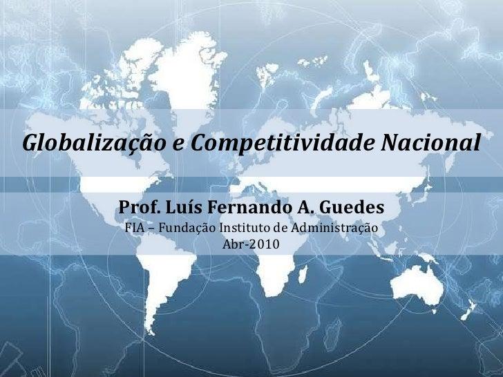 Globalização e competitividade nacional