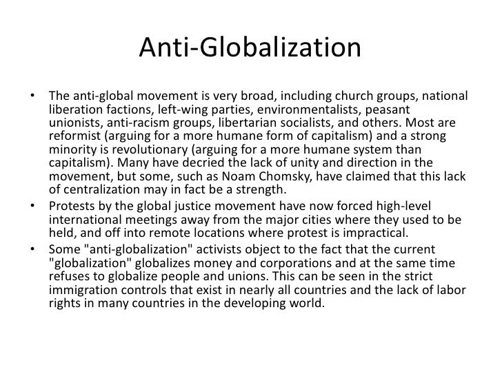 ant globalization movement essay