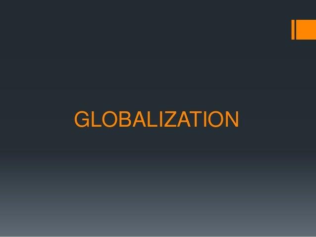 Globalisation Argument Essay