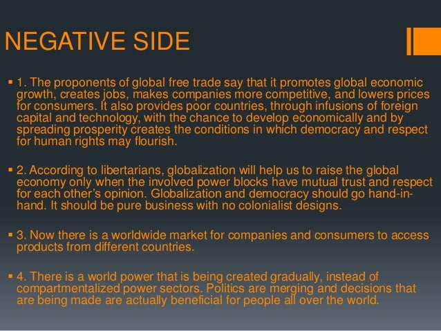 Advantages of globalization essay