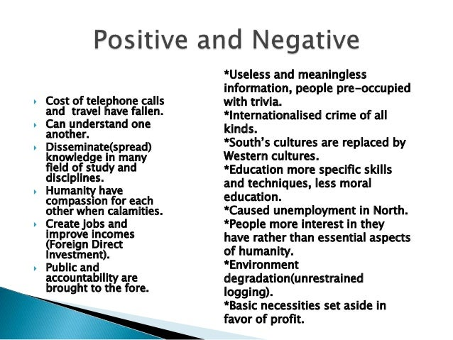 Negative impact of globalisation