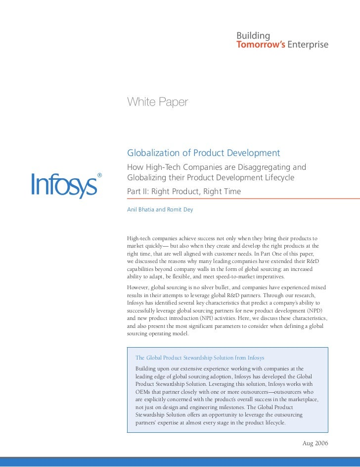 Infosys - Global Product Development White Paper | Stewardship Solutions