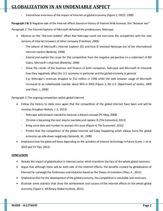 Impact of globalization essay
