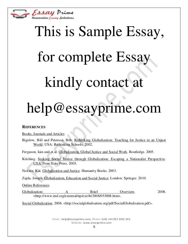 very short essay on globalization Sample of economic globalization essay (you can also order custom written economic globalization essay) log in i turned in an order for four very difficult papers even with the short deadline notice thanks, essayswriterscom renee s.