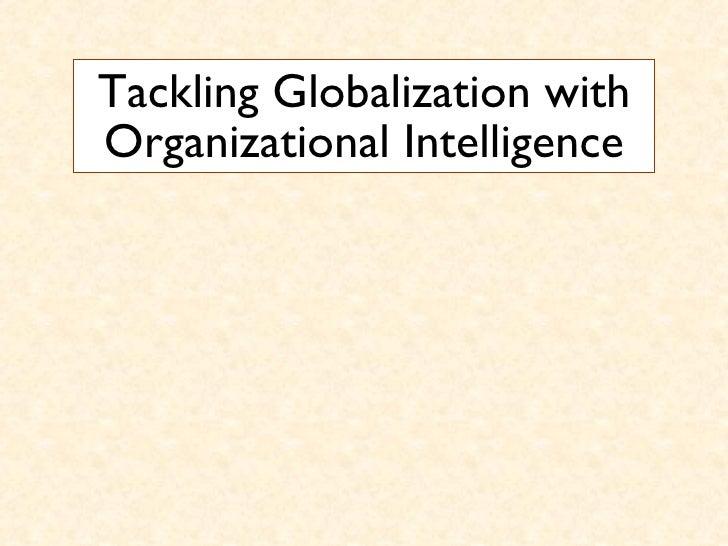 Globalization and Organizational Intelligence