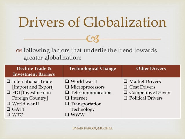 drivers of globalization essay