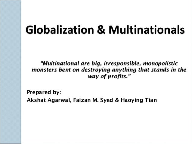 Globalization & multinationals