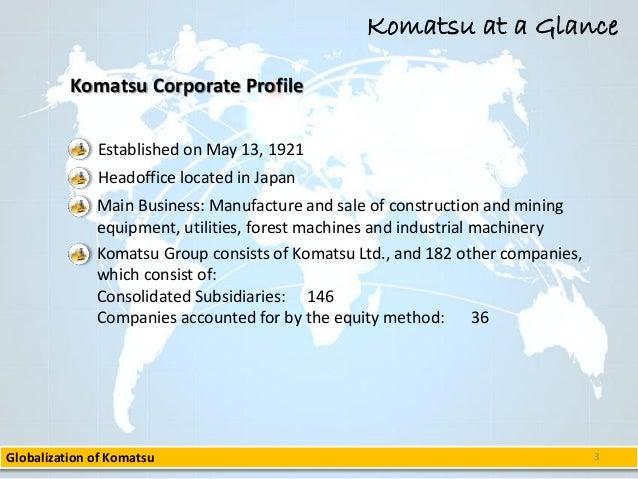 komatsu ltd project g s globalization case analysis