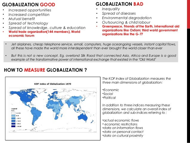 effects of globalization on migration essay This essay provides information about globalisation  simply globalisation can be depicted as increasing global interconnectedness it is a process rather than an outcome, which signifies the trend toward the growing interconnectedness of different parts of the world, not to their being interconnected.