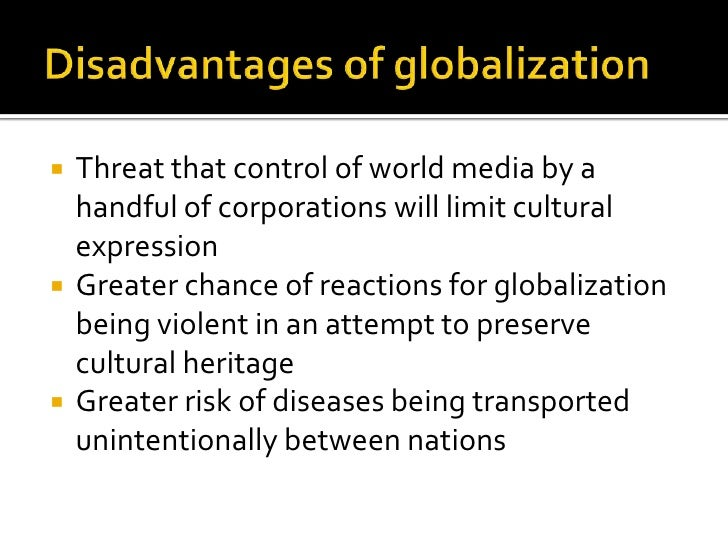 the benefits and drawbacks of globalization essay The benefits and drawbacks of globalization - globalization can be defined as the ability to produce and good this essay is going to address some positive.