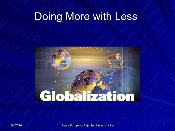 Globalization thailand index