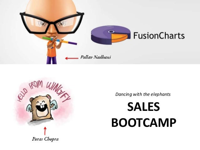 Dancing with the elephants  SALES BOOTCAMP