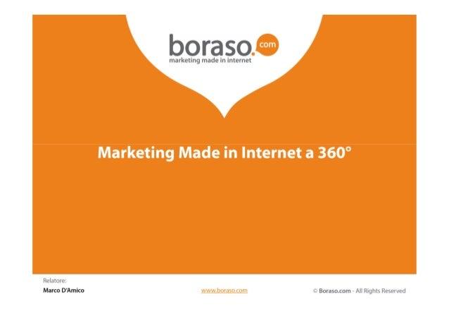 Marketing Made inInternet a 360°Una Digital Agency con 18 anni diesperienze, oltre 2.000 progettirealizzati e decine di pr...