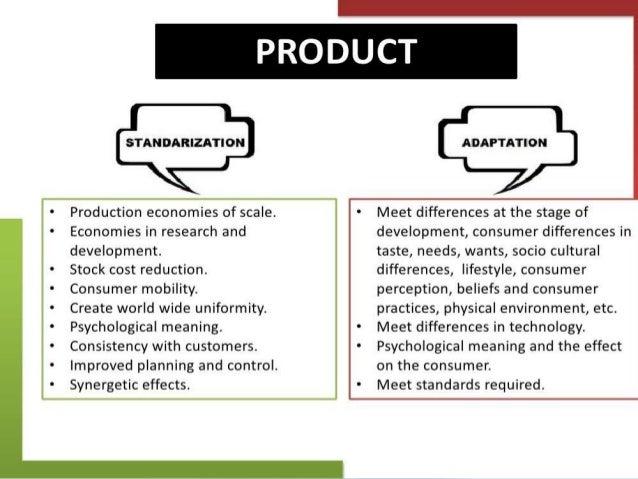 standardisation versus adaptation in a globalisation