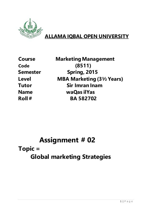 Open university mba strategy