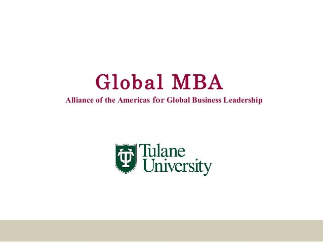 Global MBAAlliance of the Americas for Global Business Leadership