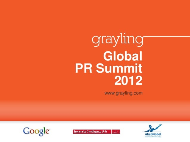 Global Megatrends at Global PR Summit 2012