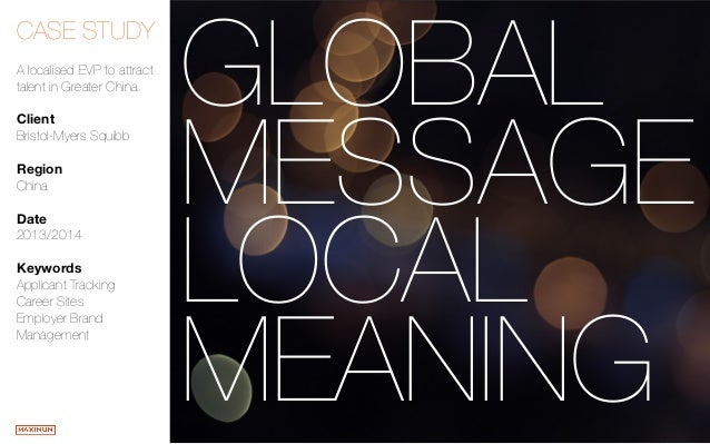 Global Message, Local Meaning - Bristol-Myers Squibb