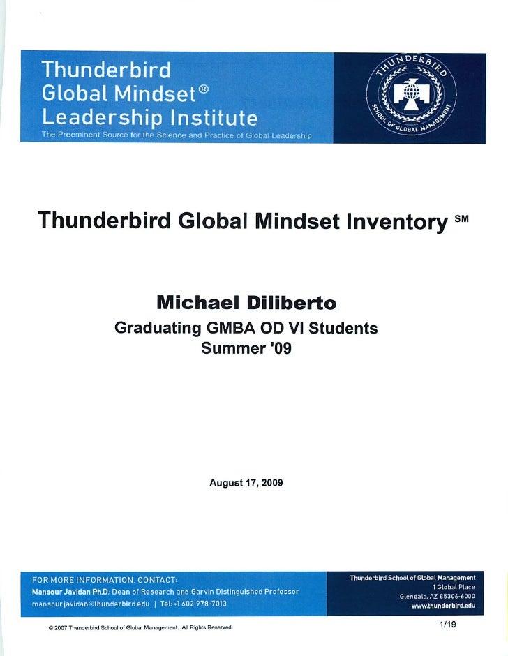 Mike Diliberto's Global Mindset