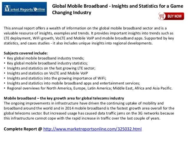 MRO: Global Mobile Broadband Market Insights and Statistics