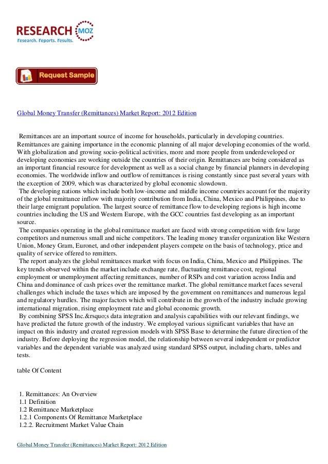 Global Money Transfer (Remittances) Market Report: 2012 Edition