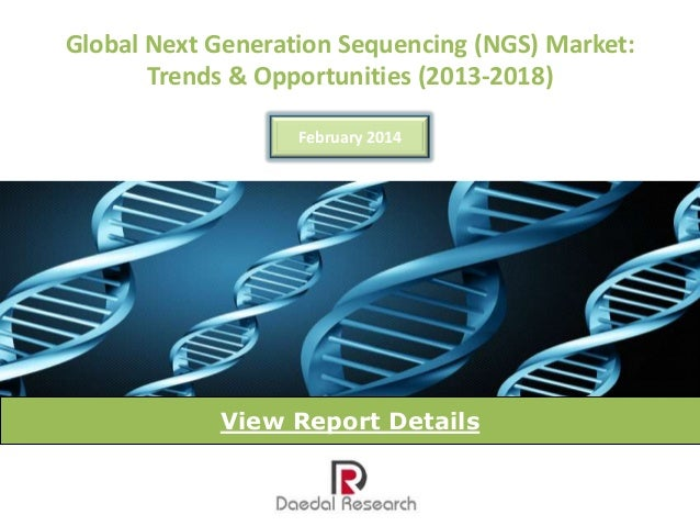 Global Next Generation Sequencing (NGS) Market: Trends & Opportunities (2013-2018) February 2014  View Report Details