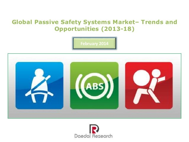 Global Passive Safety Systems Market: Trends and Opportunities (2013-18) – New Report by Daedal Research