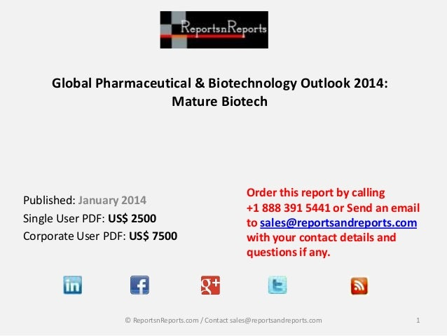 Combo Discount Offer - Global Pharmaceutical & Biotechnology Market Outlook 2014 Reports