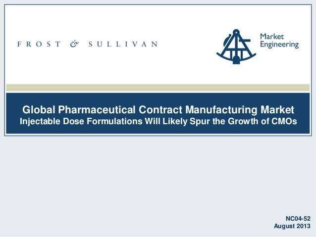Global Pharmaceutical Contract Manufacturing Market Injectable Dose Formulations Will Likely Spur the Growth of CMOs NC04-...