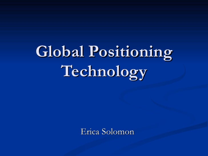 Global Positioning Technology
