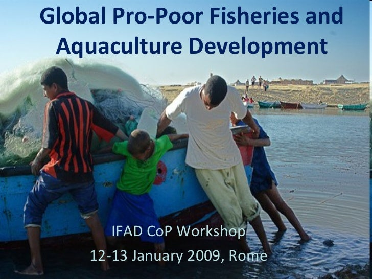 Global Pro-Poor Fisheries and Aquaculture Development IFAD CoP Workshop 12-13 January 2009, Rome